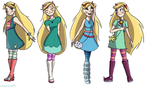 Star's outfits by WaterbenderGirl96