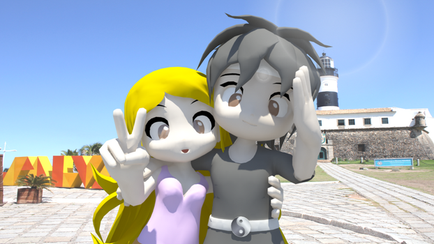 Render 3D Giovanna e Tiago Adreame Gamers by velox-zone