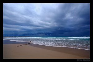 Stormy Beach by RoieG