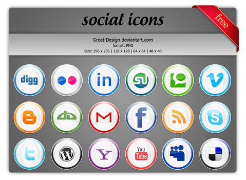 free icon social pack by Great-Design