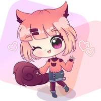 Commission: Puri-Chan-Adopty by Cloudellie
