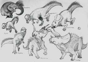 Dinosaur Phylogeny: Marginocephalia by SaurArch