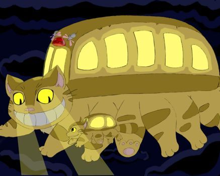 Catbus and Kittenbus by bruxing