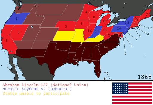 Alternate 1868 US Presidential Election by tylero79
