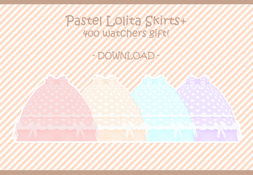 400 Watchers Gift! Pastel Lolita Skirts [DOWNLOAD] by PeachMilk3D