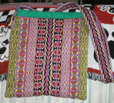 tote bag of handwoven cotton by emortalcoil