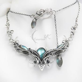 AGHNARDASH - Silver and Labradorite by LUNARIEEN