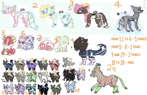 super cheap adopts - MUST GO -- 1/29 OPEN by Ferretser