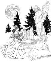 Cemetery woman by empyrean