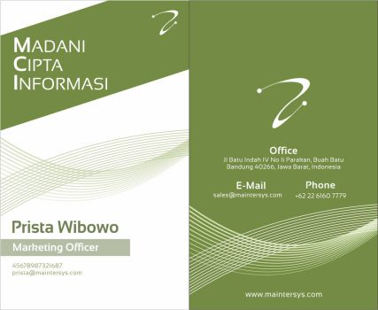 Name Card MCI by dradesigner