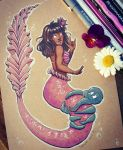 Gabriella the Deaf Mermaid by SachiiA