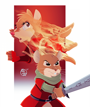 Warriors of Thorn Valley x Redwall Cover 5 by BrisbyBraveheart
