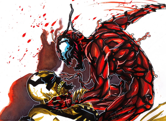 Anti-Venom VS Carnage II by Doku-Sama
