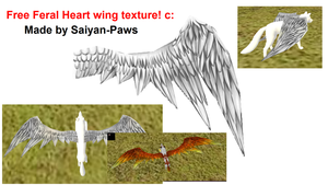 Free Wing Texture for Feral Heart by Dystopian-Resonance