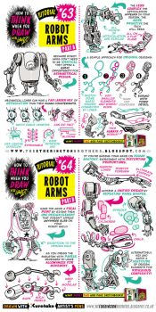 How to draw ROBOT MECH ARMS tutorial by STUDIOBLINKTWICE