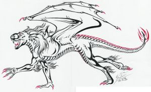 Tribal dragon for Zhon by Paperiapina
