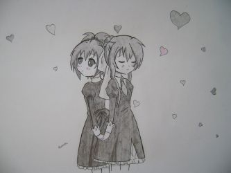 Nagisa and Tamao-chan by ukulelecrazy