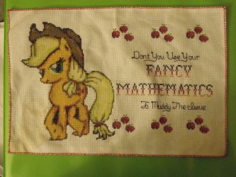 My Little Pony: Applejack Cross Stitch by BlushiexD