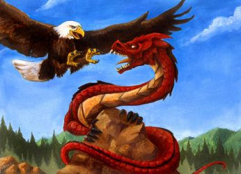 Rock, Dragon and Eagle! by mbielaczyc
