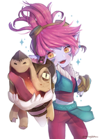 Dragon Trainer Tristana by CherryBlosssomm