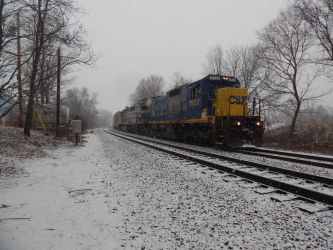 CSX C40-8 #7633 by Tracksidegorilla1
