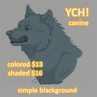 YCH! Growl: OPEN by HikariSilverEye
