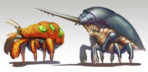Crustacean concept art by papillonstudio