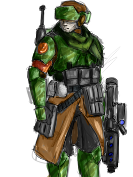 New Republic Trooper (transitionary period) by ScouttheRangerDog