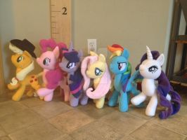 The Mane 6 going to Everfree NW by FireflyFarm