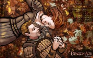 Dragon Age 2011 Calendar Sep by tankgirly