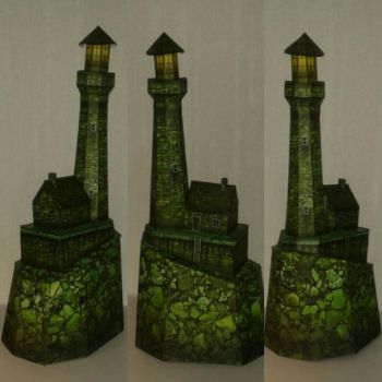 Haunted Lighthouse papercraft by minidelirium