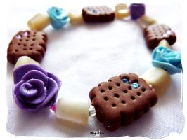 Tea Time Biscuit Bracelet by Cateaclysmic