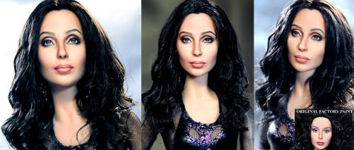 Burlesque Cher doll repaint by noeling