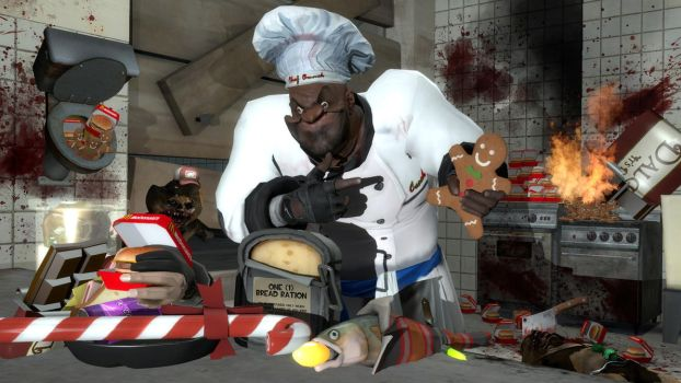 GMOD: Christmas baking with Chef Coach by happy-heavy