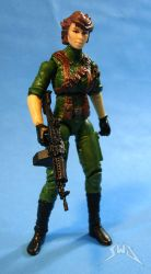 Custom GI Joe Lady Jaye 3.75 action figure by starwarsgeekdotnet