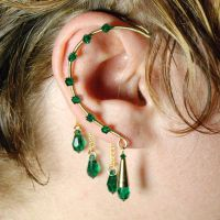 Emerald Gold Ear Wrap- SOLD by YouniquelyChic