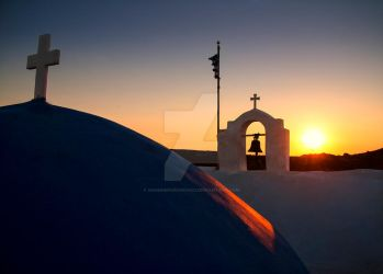 Sunset at Agios Ioannis of Paros Island by GiannisParaschou