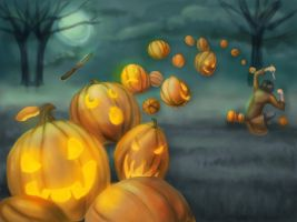Fastest Time to Carve Pumpkins by Kaia-demon