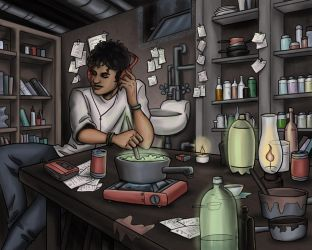 Street Sorcerer's Potions Lab by Squeakyrat