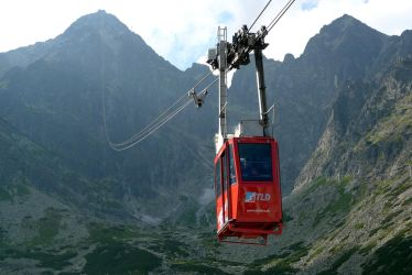 Cable car to the top of a high mountain by MAGNUM5000