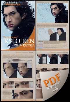 PREMIUM - Digital Painting Walkthrough -KYLO REN- by Sheridan-J