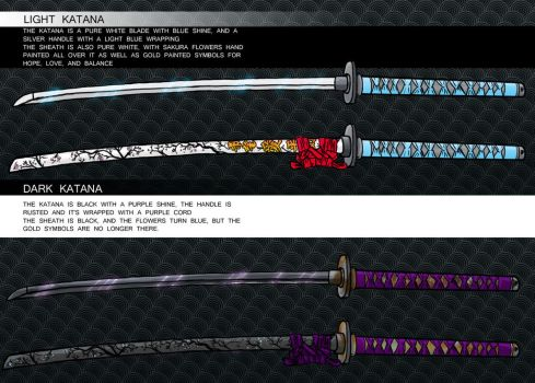 Dark/Light Katana Designs by kingv