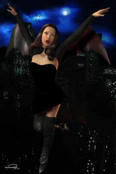 Vampiress In The Metropolis by emmaalvarez