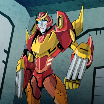Rodimus Colored by NightLokison