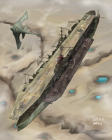 Arkilian Strategic Aircraft Carrier, Ecarlard by AoiWaffle0608