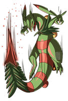 Mega Sceptile - PLEASE VOTE FOR ME ON QWERTEE by UmbreoNoctie