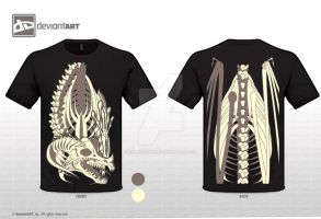 Skeleton t-shirt by Hellas-Antares