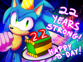 Happy Birthday Sonic by Amphleur-de-Lys