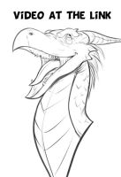Dragon sketch video by IZRA