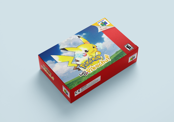 [Mockup] Pokemon Let's Go Pikachu for Nintendo 64 by ShiroEyu